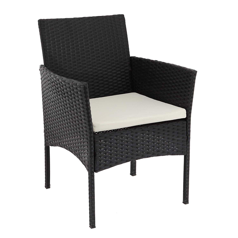 Beneffito Conjunto Muebles de jardín Tulum en Resina Trenzada - Ratán - Negro - 4 plazas, 2 sillones, 1NEGRO - 4 plazas, 2 sillones, 1 Mesa Baja, 1 ...