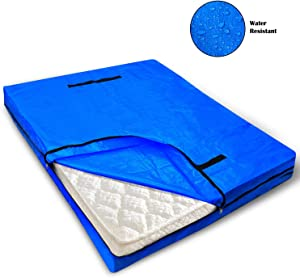 VENO Mattress Bag with 8 Handles for Moving and Storage, King Size, Reusable Heavy-Duty Mattress Protector with Strong Zipper Closure, Extra Thick Cover, Encasements, Made of Recycled Material