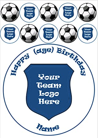 Cake Toppers MANCHESTER CITY FC PERSONALISED Name & Age 8 INCH ICING Edible Cake Topper Sport Home, Furniture & DIY