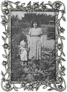 Fotorahmen Silber mit Perlen 13*18 cm Bilderrahmen Vintage Clayre /& Eef 2775 NEU