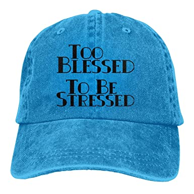 a00aff7f4 Amazon.com: Madoling Too Blessed to BE Stressed Trucker's Cap ...