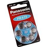 Panasonic PR6751,4V ZINCO Pile Batterie Apparecchio Acustico Confezione 6-pz PR44V675PR675H