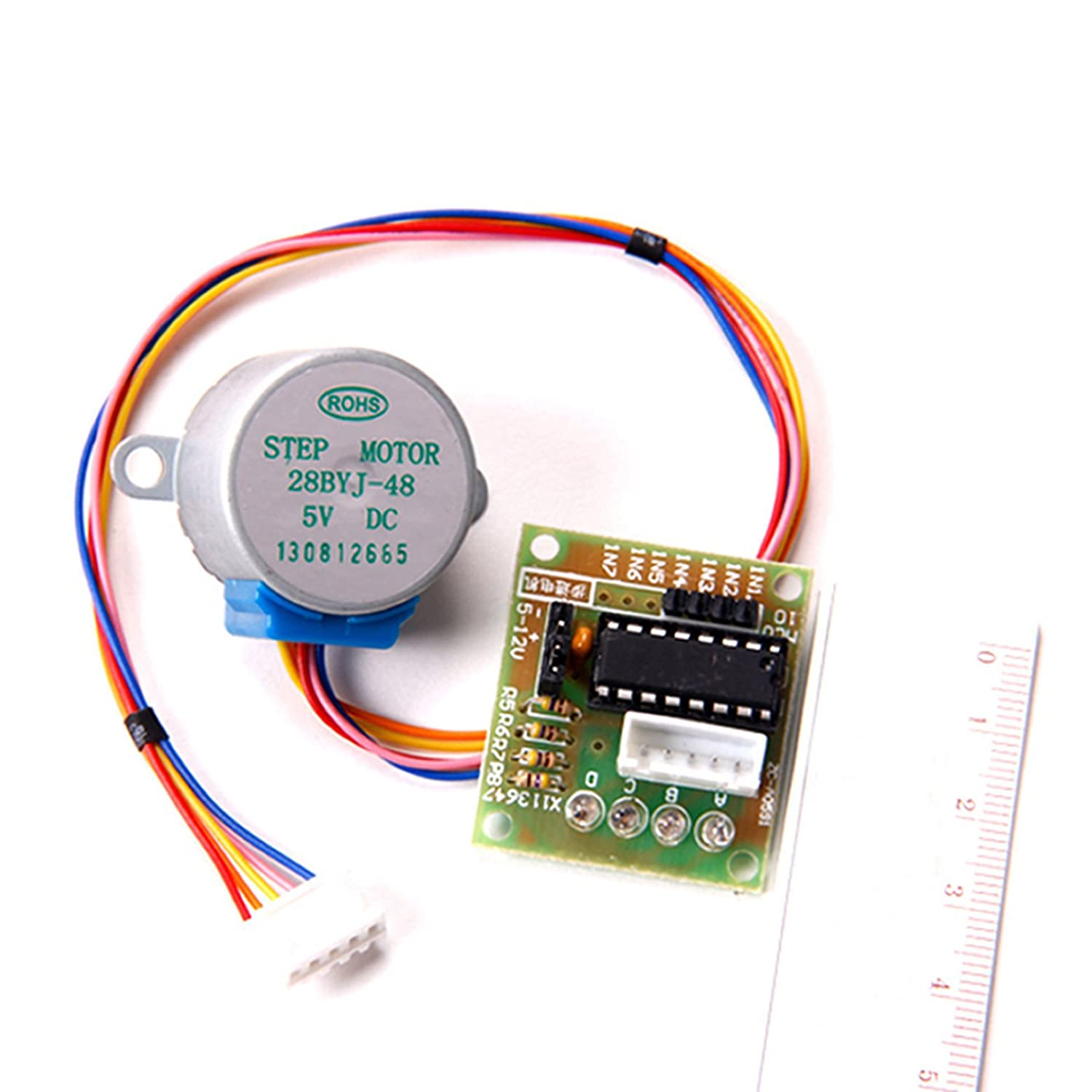 DC 5V 4-Phase 5-Wire Micro Electric Step Motor 28BYJ-48 With Drive Module Board ULN2003