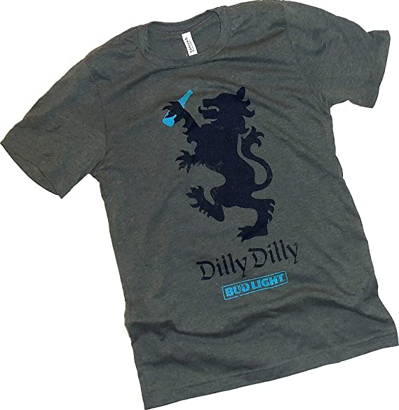 Amazon Anheuser Busch Dilly Dilly Bud Light Symbol Adult T