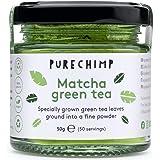Matcha Green Tea Powder 50g (1.75oz) by PureChimp - Ceremonial Grade Matcha Green Tea Powder From Japan - Pesticide-Free - Re