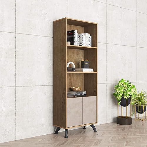 DlandHome 63 inches High Bookcase Storage Cabinet