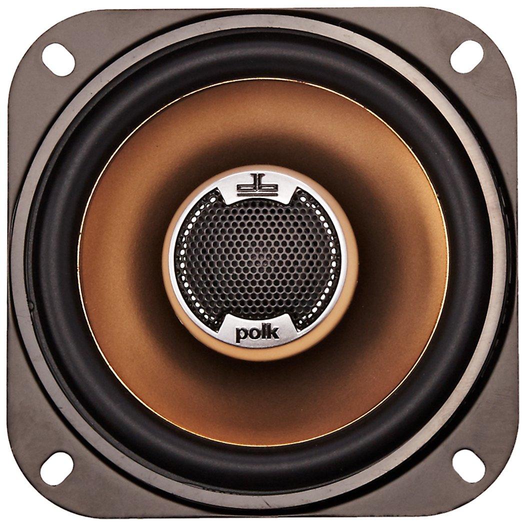Polk Audio DB401 4-Inch Coaxial Speakers Pair, Silver