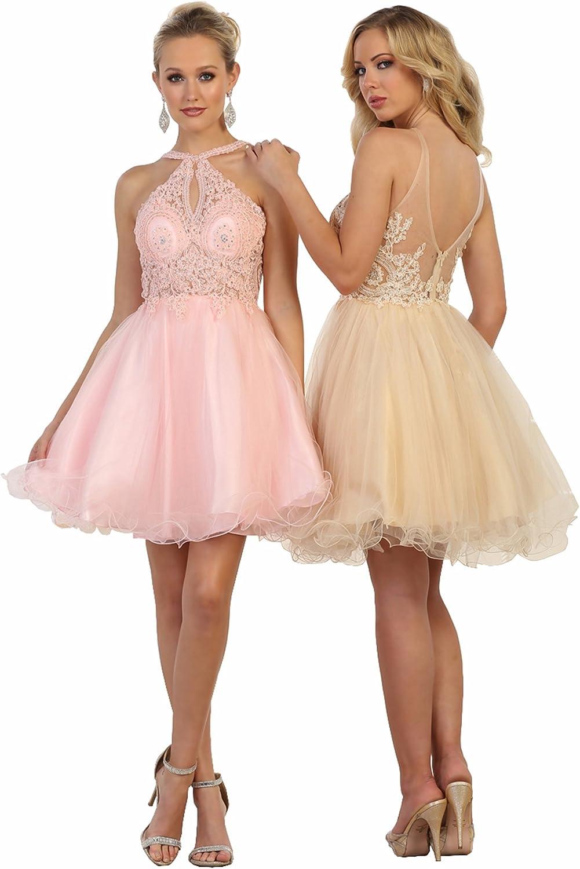 Formal Dress Shops Inc Mq1574 Prom Short Designer Dress At Amazon Women S Clothing Store