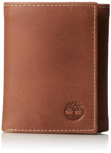 Timberland D77221 01 Herren Genuine Braun Leder Hunter Trifold Brieftasche