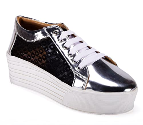 low cost super quality hot product Buy Bella Toes Designer shoes for Women - Casual Shoes - Silver ...