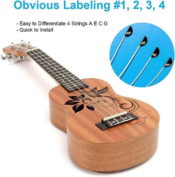 4Pcs//set Ukulele strings white nylon U105 A E C G tuning ukulele string ZF