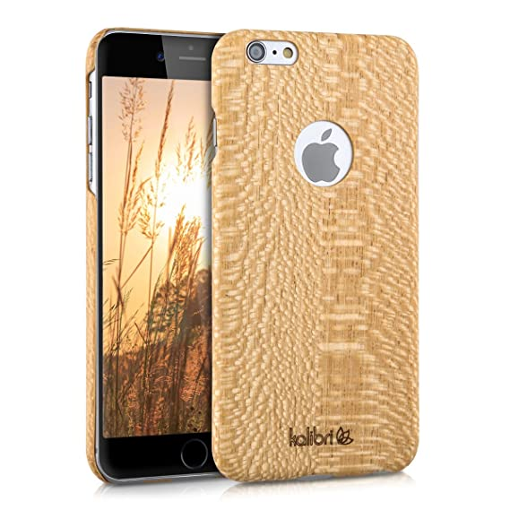 best service 7f793 22760 kalibri Apple iPhone 6 Plus / 6S Plus Wood Case - Ultra Slim Natural Hard  Wooden Protective Cover for Apple iPhone 6 Plus / 6S Plus