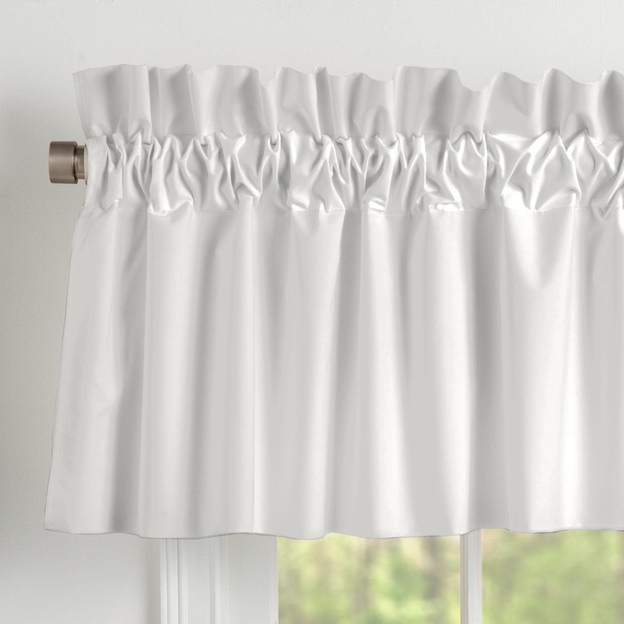 Carousel Designs Solid Silver Gray Window Valance Rod Pocket by Carousel Designs
