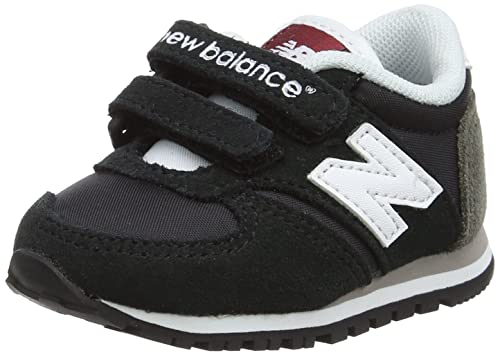 low priced 89a91 afe4c New Balance 420 Hook and Loop, Baskets Basses Mixte Enfant, Noir (Black)