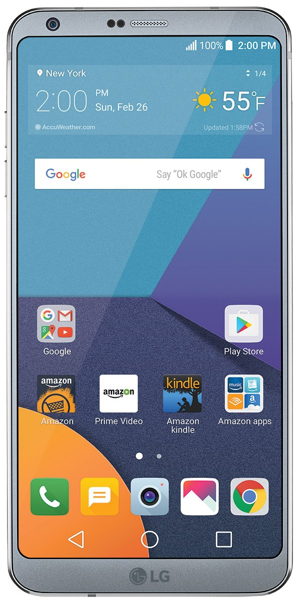 LG G6 - 32 GB - Unlocked (AT&T/T-Mobile/Verizon) - Platinum - Prime Exclusive - with Lockscreen Offers & Ads