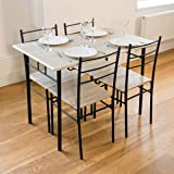 Cecilia 5 Piece Dinner Table and Chairs Set Modern Dining