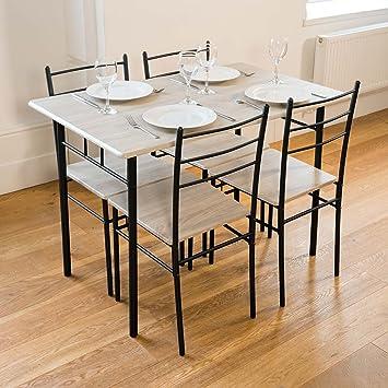 cecilia 5 stuck esstisch und stuhlen modern dining