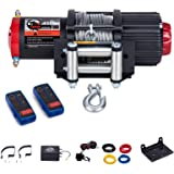 4500Lb ATV/UTV Winch,12V Electric Winch with 49ft Cable,Wireless Winch Kit for SUV (2pcs Handle Wireless Remote Control…