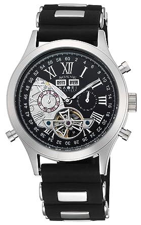 purchase cheap 95562 cc4d3 [ゾンネ]SONNE 腕時計 SONNE×HAORI PRODUCED ブラック文字盤 自動巻 H003SS-BK メンズ