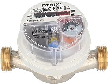 Allmess visto-contador de agua fría 1.27 cm EVK 3/110 V + M, 1.91 ...
