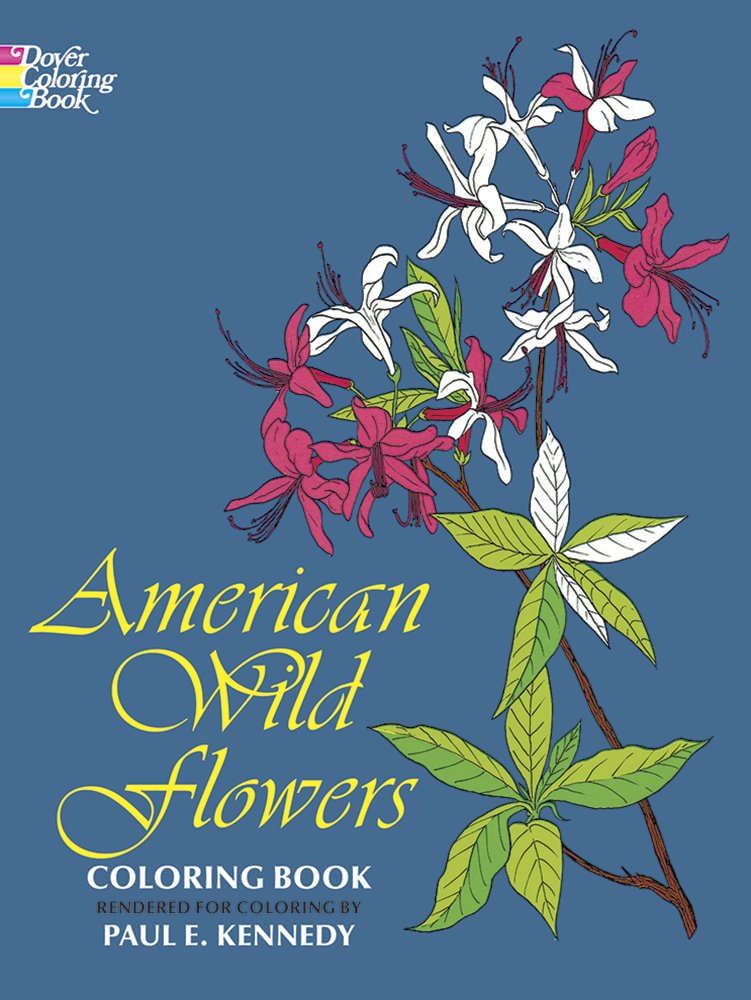 American Flowers Coloring Dover Nature product image