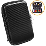 Space Accessories Case | Universal Travel Carrying Case Storage Bag for Phone USB Cables Charger Power Bank Etc. | Waterproof EVA Gadget Organizer Hard Case with Mesh Pockets and Elastic Compartments