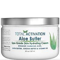 Hawaiian Aloe Vera Face & Body Moisturizer & Night Cream for Sunburn Relief Compare...