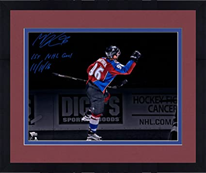 2c4aebdaa Framed Mikko Rantanen Colorado Avalanche Autographed 16 quot  x 20 quot   Goal Celebration Spotlight Photograph with quot
