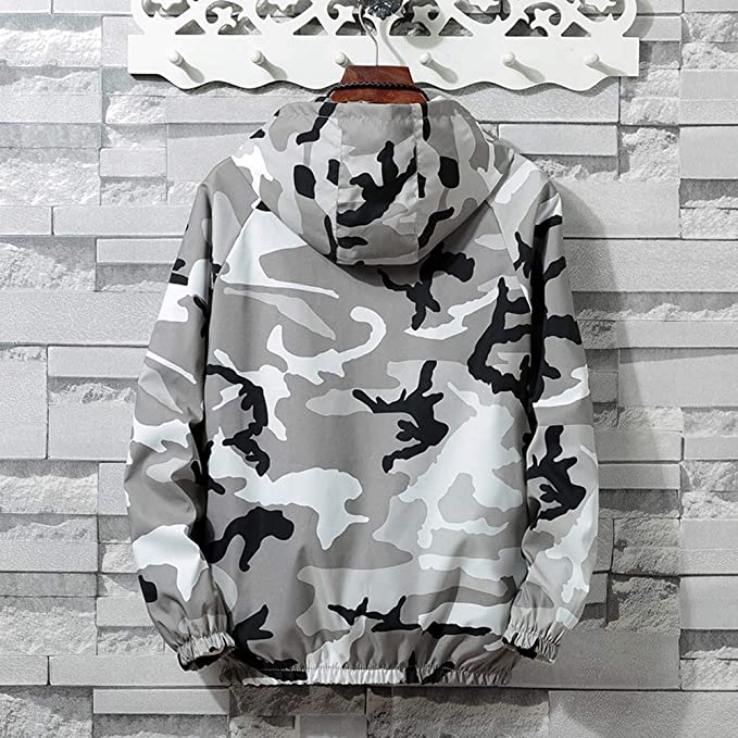 Amazon.com: Teresamoon Mens Autumn Winter Zip Camouflage Long Sleeve Pocket Sport Hoodies Jacket Coat: Home & Kitchen
