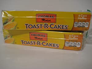 Thomas' Toast-r-cakes Corn Muffins, (2)- Packages of 6ct.