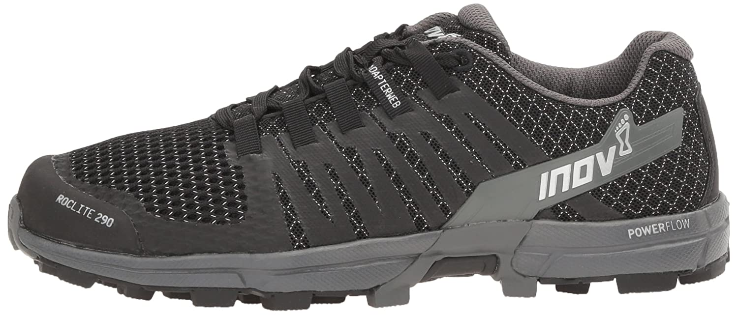Inov-8 Women's Roclite 290 Trail Runner B01KIGYG5U 7.5 M US|Black/Grey