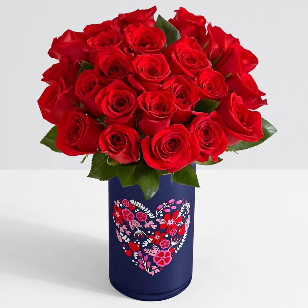 Amazon proflowers 24 count red two dozen red roses wfree amazon proflowers 24 count red two dozen red roses wfree clear vase flowers fresh cut format rose flowers grocery gourmet food reviewsmspy