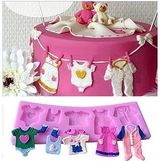 Bestjybt Silicone Baby Clothes Handmade Fondant Cake Decorating Tools DIY  Mould Mold