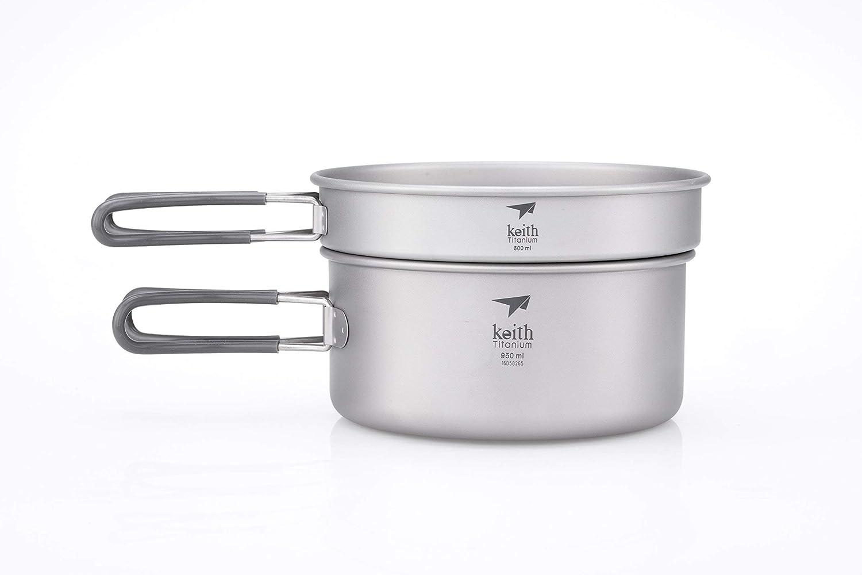 Keith Titanium - Ti6016 Time 2-Piece Pot and Pan [並行輸入品] Cook Set - 1.55 L (Limited Time Price) [並行輸入品] B07R3Y46JM, アイズインテリアショップ:905f25f9 --- anime-portal.club