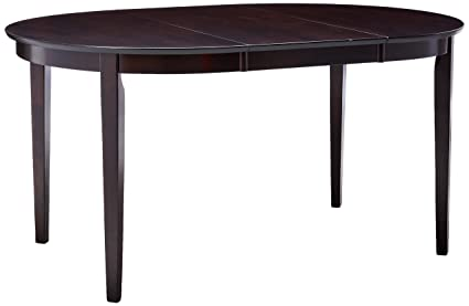 Amazoncom Coaster Home Furnishings Gabriel Modern Oval Dining - Modern oval dining table with leaf