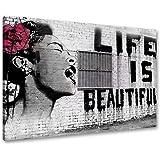 Cuadro en Lienzo Banksy 80 x 60 cm Nr. 4166 cuadro abstracto