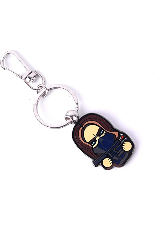 Steve Captain America 3 Civil War Bucky Cute Star Keyring Keychain Strap Be
