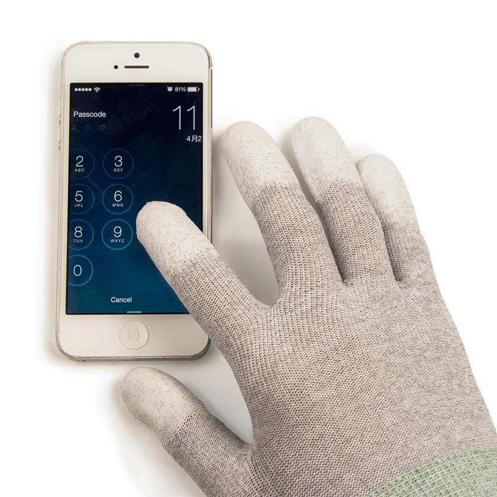 Kết quả hình ảnh cho Carbon Fiber Anti-Static Touch Screen Gloves Gray
