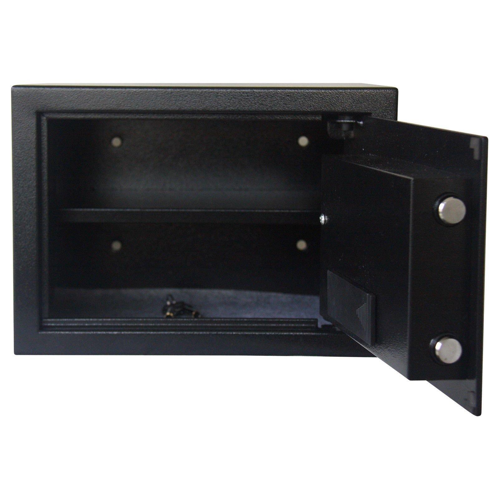 Stamo Electronic Digital Fingerprint Safe Fireproof Combination Box Keypad Lock Home Office Hotel Hide Cash Gun Valuables Black