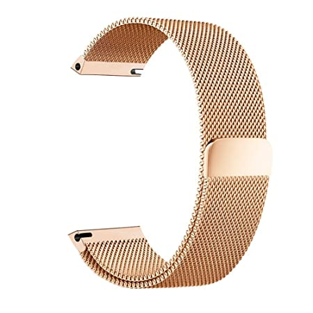 BarRan reg; Nokia Steel HR 36mm Bracelet, 18mm Milanese Boucle du Bracelet Montre Serrure Magnétique Sangle pour Nokia Steel HR 36mm Smartwatch: Amazon.fr: ...