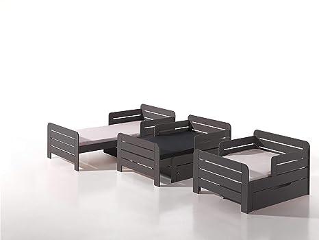 Vipack jpcoberbma1514 Cuna Jumper Extensible 140 – 200 cm, Incluye Cama cajón y colchón,