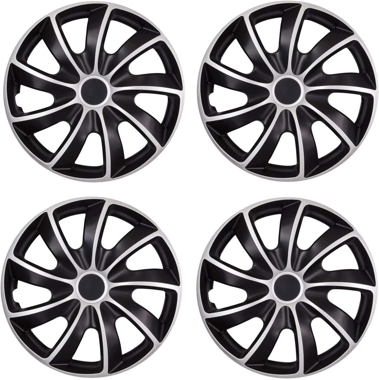 Tapacubos para llantas de acero 15 pulgadas color plateado y negro OptimumParts24 84DP