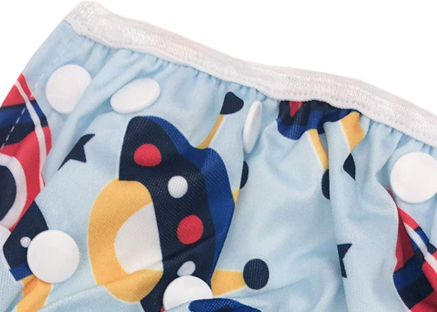 Zando Reusable Swim Diapers Adjustable for Boys and Girls Stylish Fits Waterproof Baby Swimming Diapers Pants