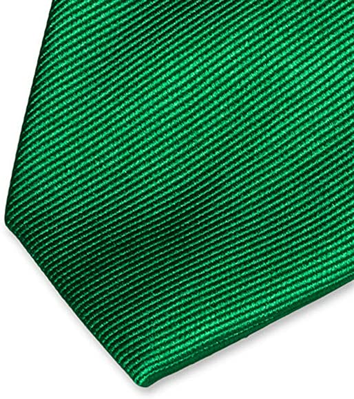 Accessoirespezialist.de Corbata verde de alta calidad - 100% seda ...