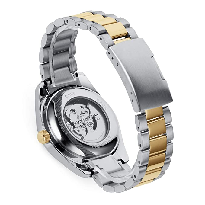 RALPH CHRISTIAN Mens Luxury Wrist Watch - Gold & Steel Two-Tone Skeleton Style - Zurich - Automatic Timepiece, Analog Dial, Self Winding Mechanical ...