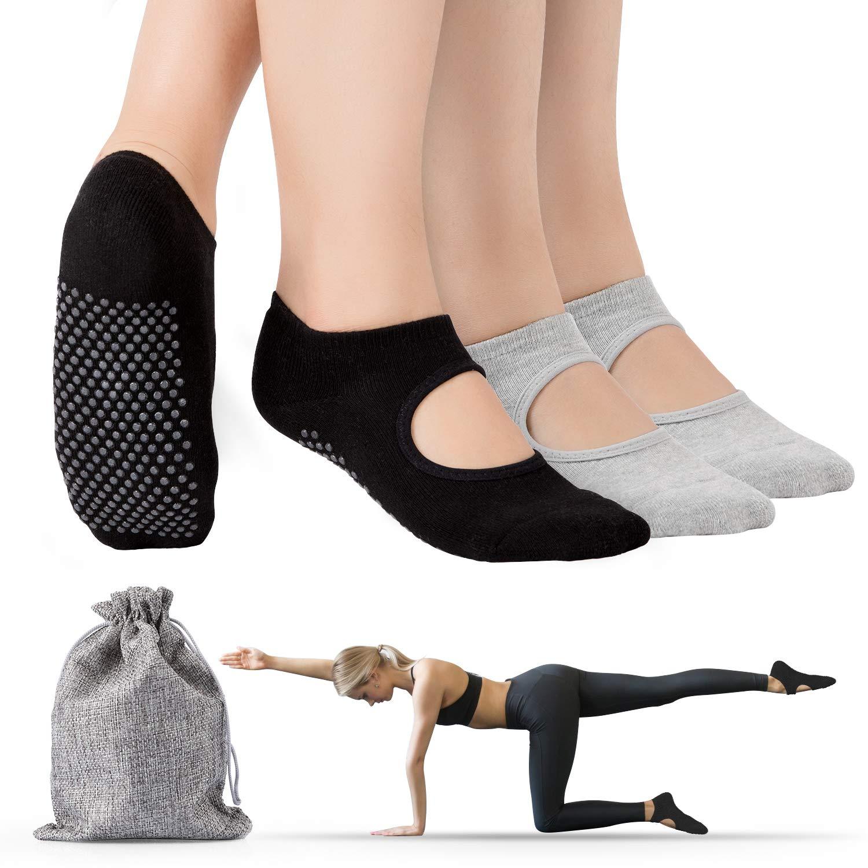 sbarra ideali per yoga trampolino Calzini da yoga pilates fitness BOJL allenamento a piedi nudi da donna due paia balletto