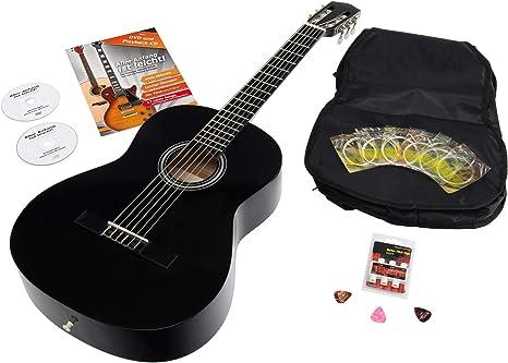 Calida Benita CB78BKSET - Set de guitarra Set 7/8 con accesorios ...