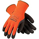 PowerGrab Thermo 41-1400/XL Hi-Vis Seamless Knit Acrylic Terry Glove with Latex MicroFinish Grip on Palm and Fingers