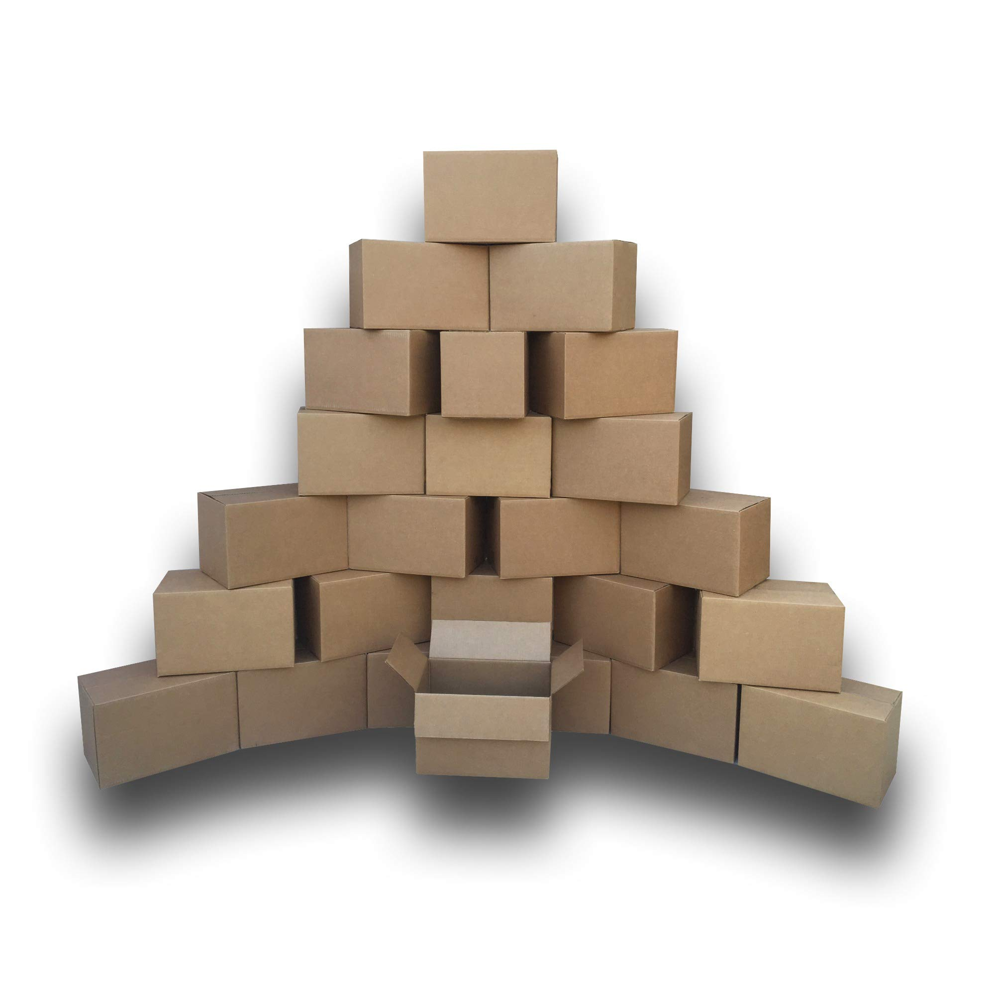 Uboxes BOXBUNDSMA25 Small Moving Boxes, 16'' x 10'' x 10'' Packing Cardboard Box (Pack of 25) by Uboxes