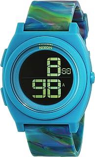 Nixon #A417-1610 Mens Time Teller Digi Marbled Multi Resin Band Watch